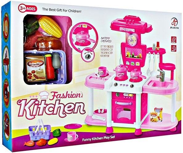 Mainan Anak Fashion Kitchen Set Pink - Mainan Masak-Masakan