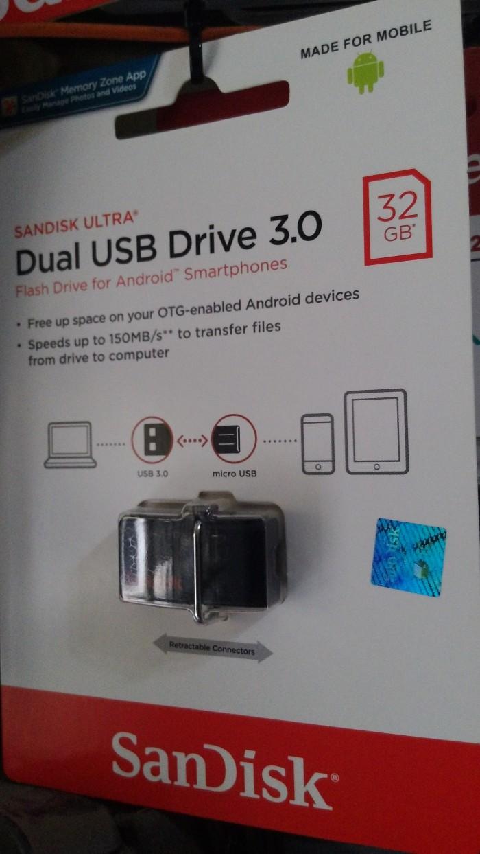 Jual Flashdisk Otg Sandisk Ultra Dual Drive 32 Gb Usb 30 Hitam 32gb New