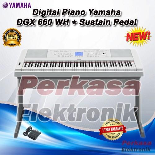 jual digital piano yamaha dgx 660 dgx 660 dgx660 perkasa elektronik tokopedia. Black Bedroom Furniture Sets. Home Design Ideas
