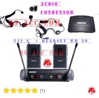 harga Mic wireless shure pgx 242s + headset shure wh 30 condensor Tokopedia.com