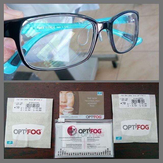 Lensa Minus Kacamata Essilor Optifog Anti Embun