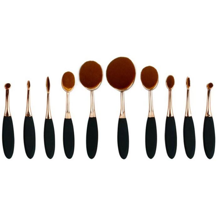 harga Kuas kosmetik make up oval brush wajah 10 pcs Tokopedia.com