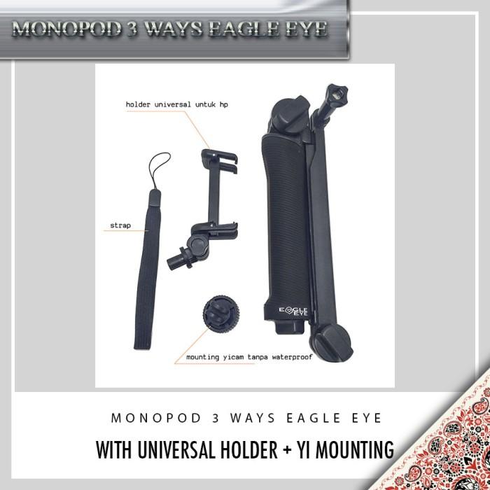 harga Monopod 3 ways eagle eye/ monopod 3 way/ tongsis/ mini tripod/ 3 ways Tokopedia.com