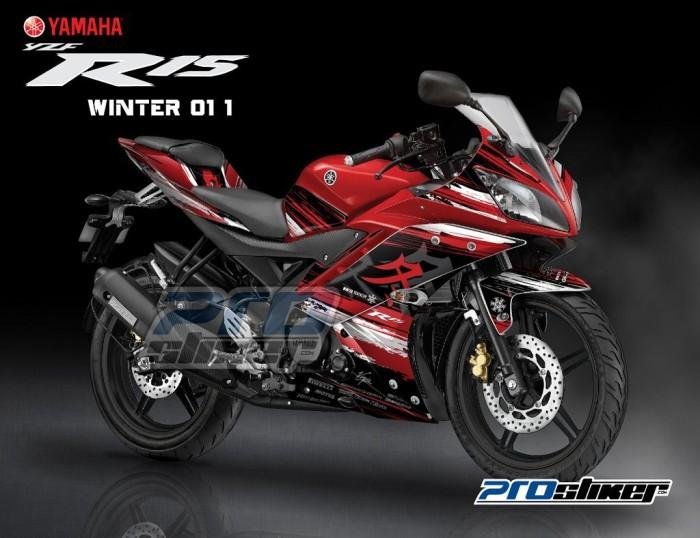 harga Stiker motor yamaha r15 variasi motif winter merah prostiker Tokopedia.com