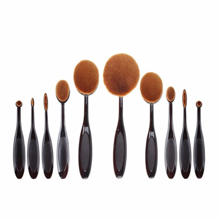 harga Kuas kosmetik make up oval brush wajah 10 pcs Tokopedia.com