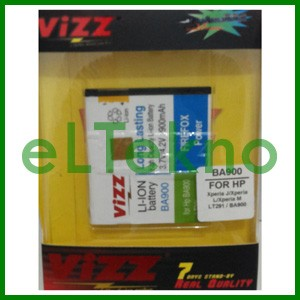 Baterai Vizz Sony Xperia J L M BA900 Batre Double Power Dobel Battery