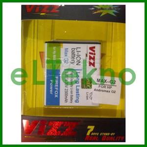 Baterai Vizz Andromax G2 Smartfren Batre Double Power Dobel Battery