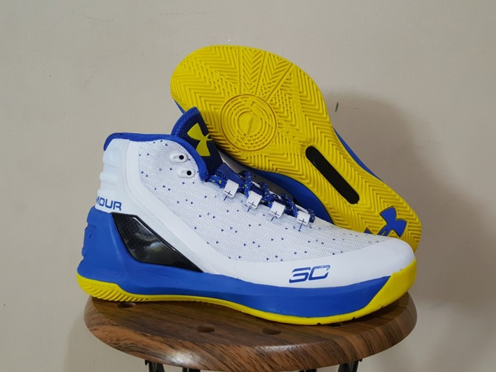 Jual SEPATU BASKET UNDER ARMOUR CURRY 3 WHITE YELLOW BLUE - LUVI ... 3ad69a2d97