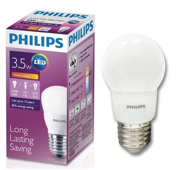 harga Lampu / bohlam led philips e27 3.5 watt (3.5w) kuning (warm