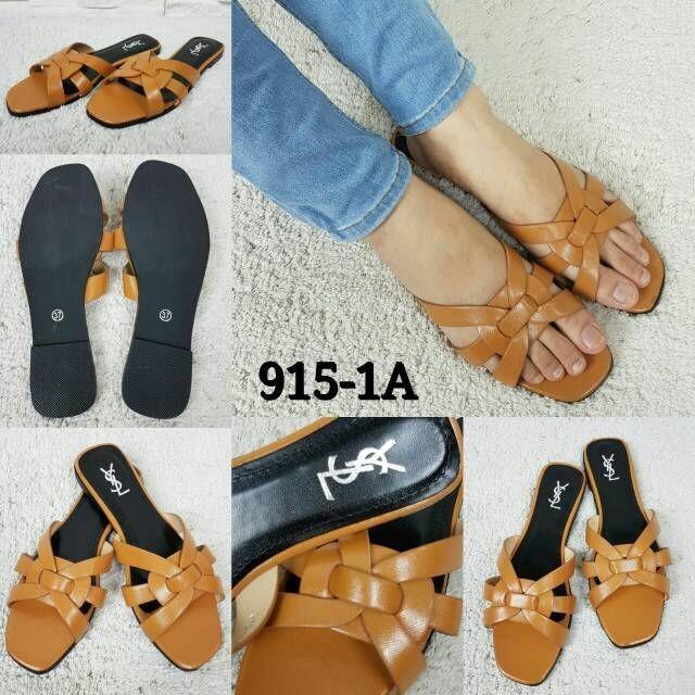 4417c30a875 Jual Sandal YSL flat SHOES 915-1A#nt - Kota Batam - Kaila Bag Store ...