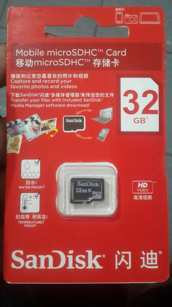 harga Memory hp mmc micro sd sandisk 32gb Tokopedia.com