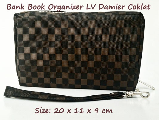 harga Bank book organizer motif lv damier coklat (bbo motif) Tokopedia.com