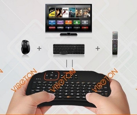 Foto Produk Mini Keyboard Mouse Wireless  Support Window   TV & Player Android dari Heppi.Share