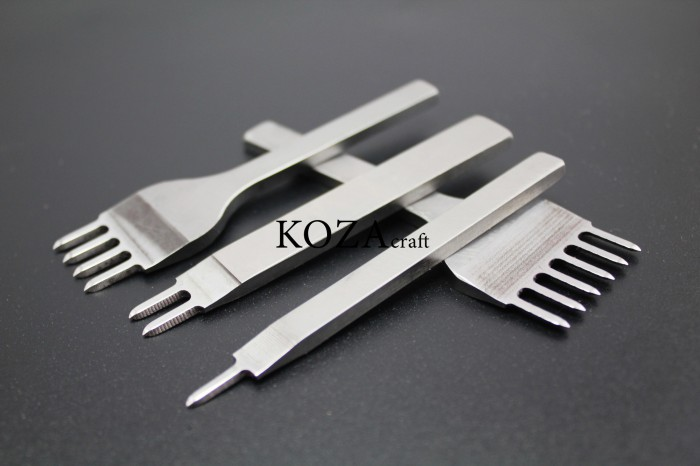 harga Stitching Hole Punch Set Isi 4 Pcs 6mm - Prong - Leather Tools - Craft Tokopedia.com