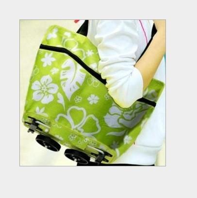 POLKA DOT Tas Troli 02 Lipat Troly Shopping Foldable Trolley Bag Cart