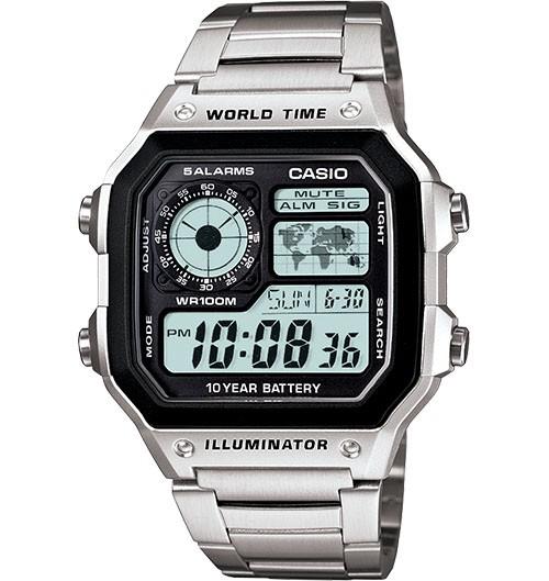 harga Casio ae1200whd-1 jam tangan pria stainless original bergaransi kotak Tokopedia.com
