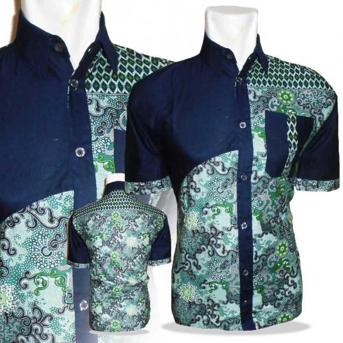 Jual A0594 Baju Batik Kombinasi Polos Batik Pendek Warna Hitam Kab Pekalongan Plus Batik Tokopedia