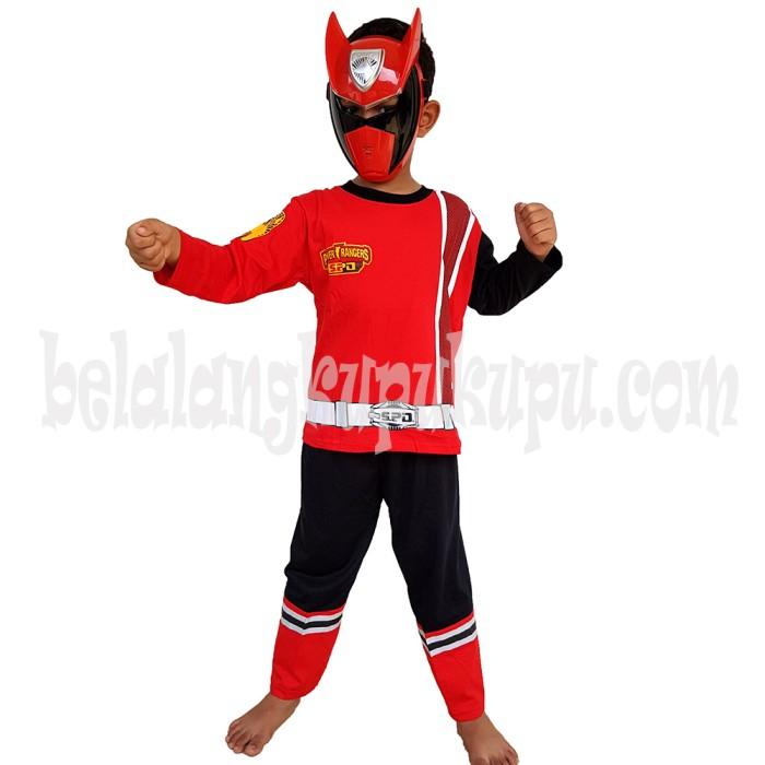 Foto Produk Baju Anak Kostum Topeng Superhero Power Rangers - Size 10 dari BelalangKupuKupu