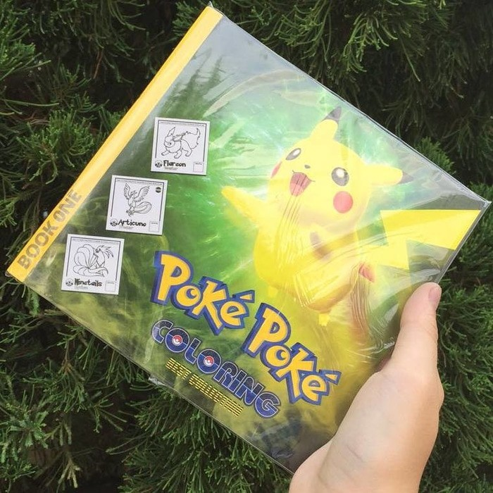 Jual Buku Gambar Mewarnai Pokemon Volume 1 Pikachu Pokeball Baby