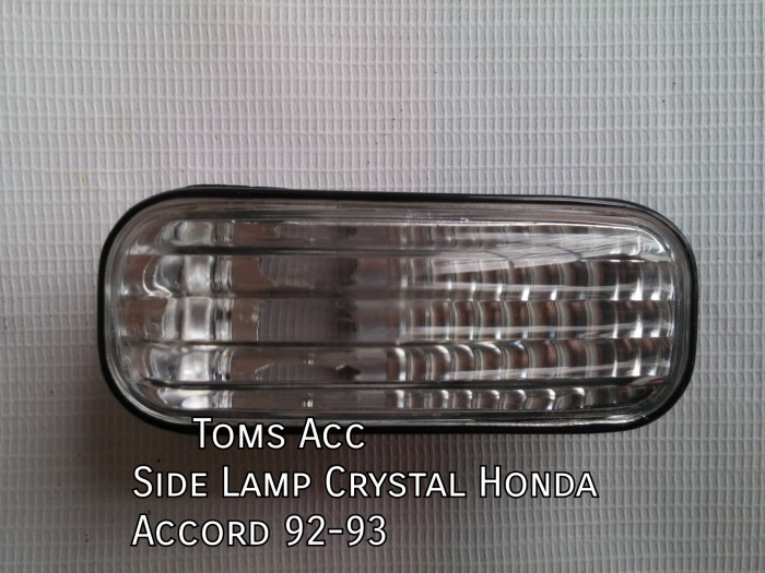 harga Side lamp kristal accord maestro 1992-1993 honda/lampu sein samping Tokopedia.com
