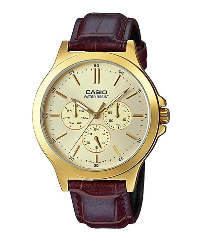 harga Casio analog jam tangan pria cokelat kulit mtp-v300gl-9a original Tokopedia.com