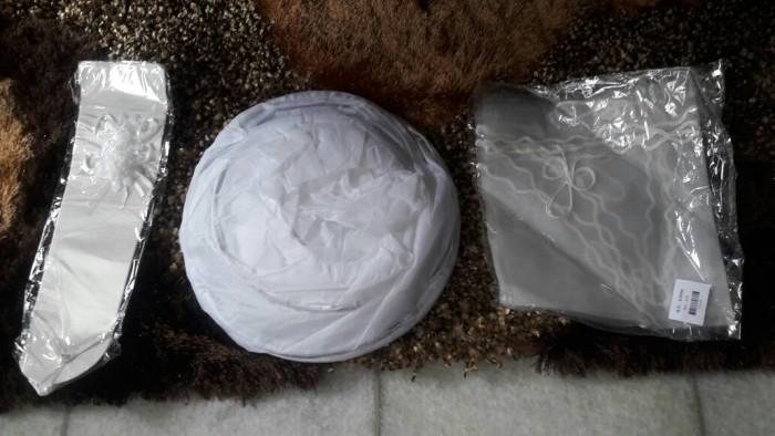 harga Wedding petticoat - veil - gloves - paket rok kerudung sarung tangan Tokopedia.com