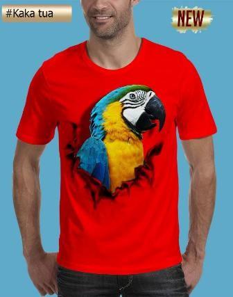 harga Tshirt 3dbajupakaiankaos 3d burung kakatua Tokopedia.com