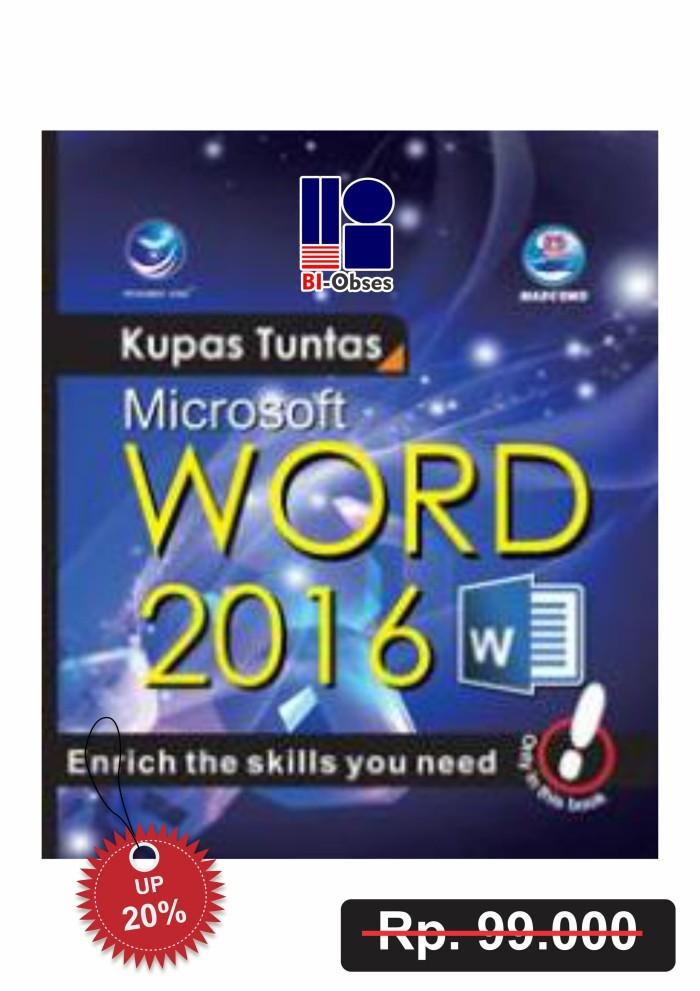 harga Kupas tuntas microsoft word 2016 Tokopedia.com
