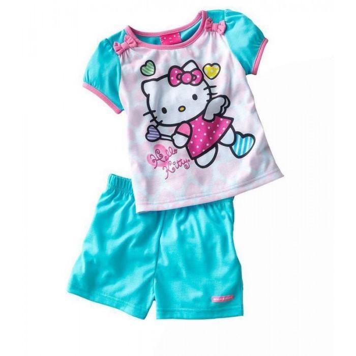 Hello kitty Girls Scarf 6-9 Years Hat /& Glove Set pink Pink//Blue 54