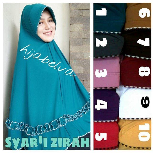 Jual Hijab Jilbab Syari Zirah Gotik Sulam Ukuran Jumbo Bahan Jersey