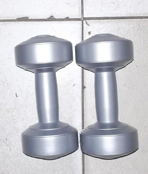sepasang 1 kg dumble/dumbbell/dumbel/dumbell (bukan barbell/barbel)