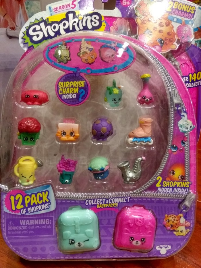 Jual Shopkins Season 5. 12 Pack + 2 Backpack + 2 Charm Original Ori ... 3a85497c1b