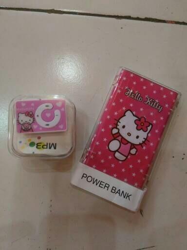 harga Paket powerbank slim hello kitty + mp3 player hello kitty Tokopedia.com