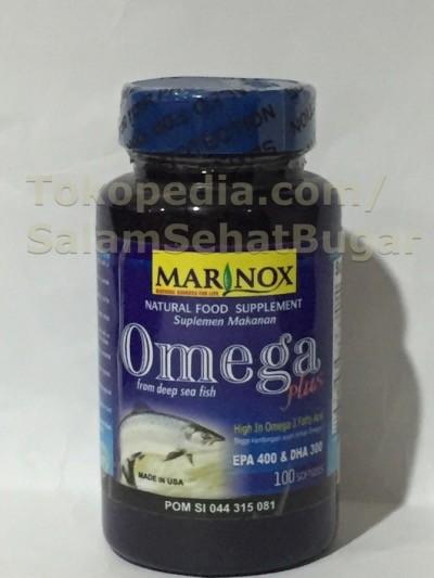 harga Marinox omega plus 100's, omega 3, minyak ikan, jantung kolesterol Tokopedia.com