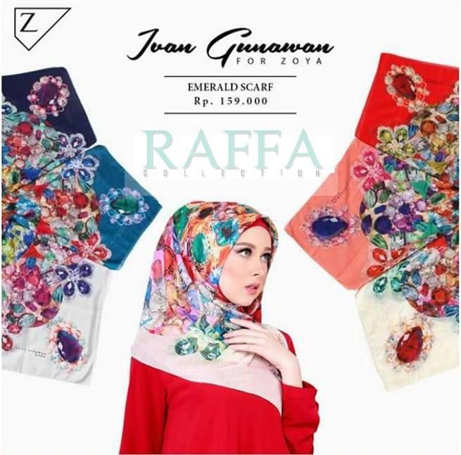 Jual Kerudung Segiempat Zoya Ivan Gunawan Emerald Scarf Jakarta Barat Fyya Collection Tokopedia