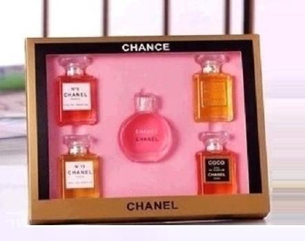 chanel 5 gift set. parfum chanel miniatur isi 5 set / box gift kado a