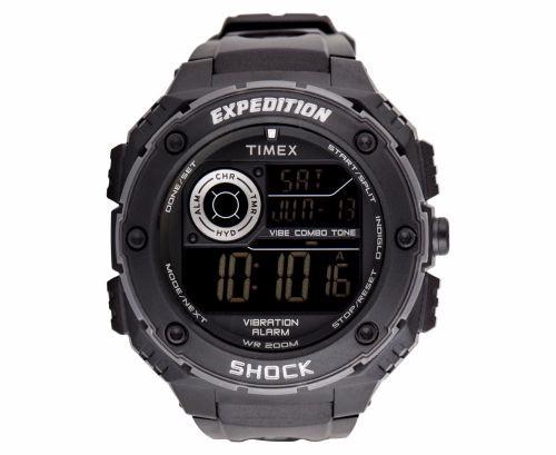 harga Timex 50mm expedition vibe shock resistant watch - black - 100% Tokopedia.com