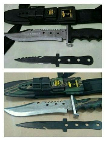 harga Sangkur dobel/ pisau/ belati/ bayonet/ sangkur cobra dobel Tokopedia.com