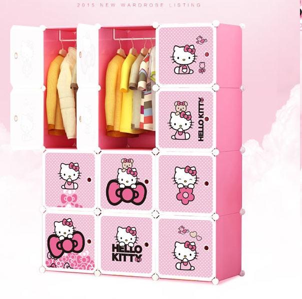 harga Lemari pakaian rak baju hello kitty sanrio furniture sepatu buku sale Tokopedia.com