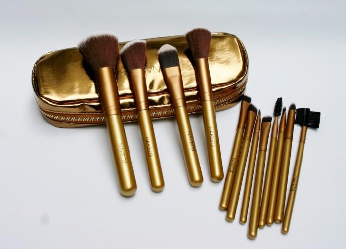NAKED RESLETING GOLD - Kuas Dompet Emas isi 12 / Brush Set 12 in 1