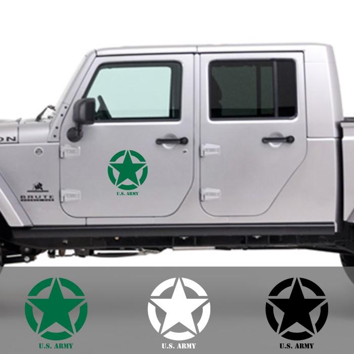 harga Stiker jeep us army cutting sticker pintu mobil 30 cm adventure willys Tokopedia.com