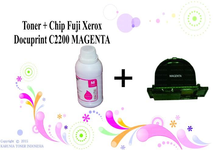 harga Toner + chip fuji xerox docuprint c2200 magenta Tokopedia.com