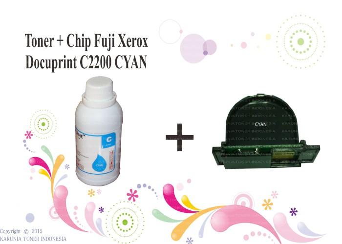 harga Toner + chip fuji xerox docuprint c2200 cyan Tokopedia.com