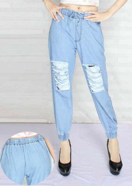 harga Vv ripped joger celana pants jeans Tokopedia.com