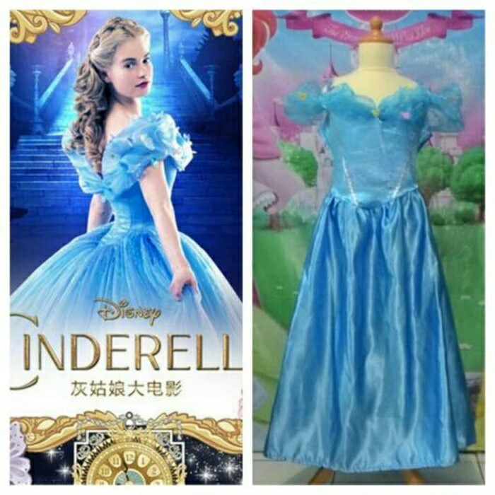 harga Dress anak kostum cinderella butterfly tule gliter/gaun anak/princess Tokopedia.com