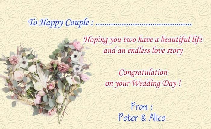 Kartu Ucapan Wedding   Kata Kata Mutiara