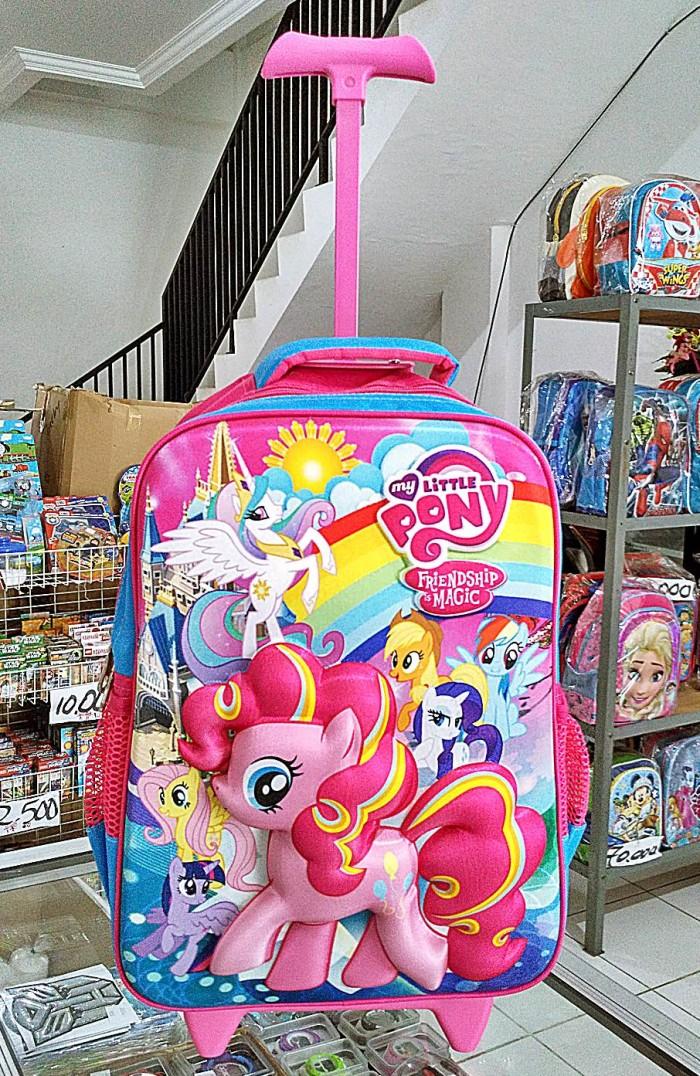 jual tas sekolah anak kuda poni 3d troli bahan import murah kota rh tokopedia com