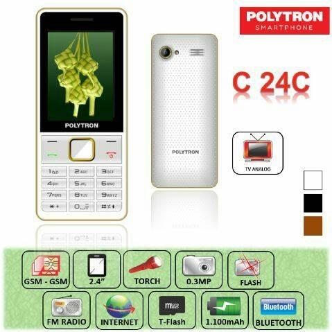 harga Handphone polytron c24c candybar dual gsm lcd 2.4 inch tv analog camer Tokopedia.com