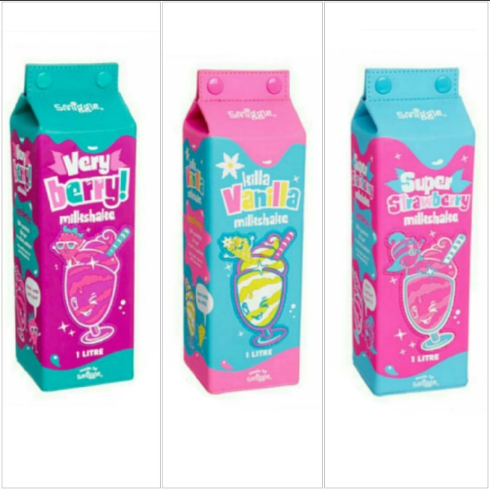 jual smiggle milk shake carton scented pencil case very