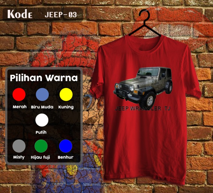 harga Kaos mobil jeep tshirt brandon  3 Tokopedia.com